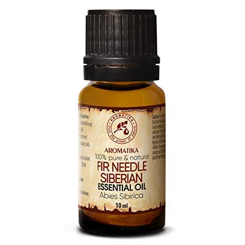 Olio Essenziale di Ago D'Abete Siberiano 10ml - Naturale e Puro al 100% - Abies Sibirica - Russia - Aromaterapia - Rilassamento - Massaggi - Sauna - Diffusore - Inalatore - Oli Profumati