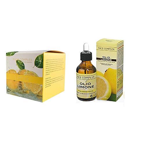 Crema Viso Al Limone Face Complex + OLIO ESSENZIALE DI LIMONE F.C. RIMEDIO NATURALE A PELLE GRASSA E PUNTI NERI VISO