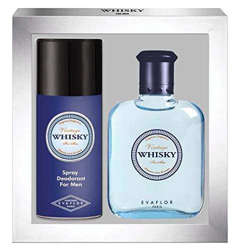 WHISKY VINTAGE • Cofanetto Eau de Toilette 100ML + Deodorante 15OML • Spray • Profumo Uomo • Regalo • EVAFLORPARIS