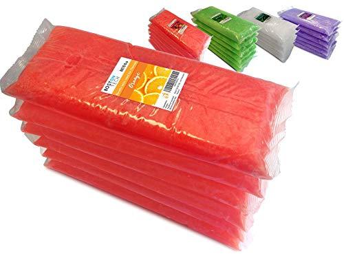 Boston Tech BE106-A Pura cera di paraffina 3 Kg. 6 blocchi da 500g C / u. Ideale per qualsiasi bagno di paraffina. Uso terapeutico ed estetico. (Arancione)