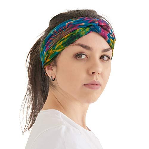 Charm Tie Dye Fascia Capelli Hippie - Estate Fasce Turban De Donna Boho Yoga Turbante Hippy Bandana Accessori A