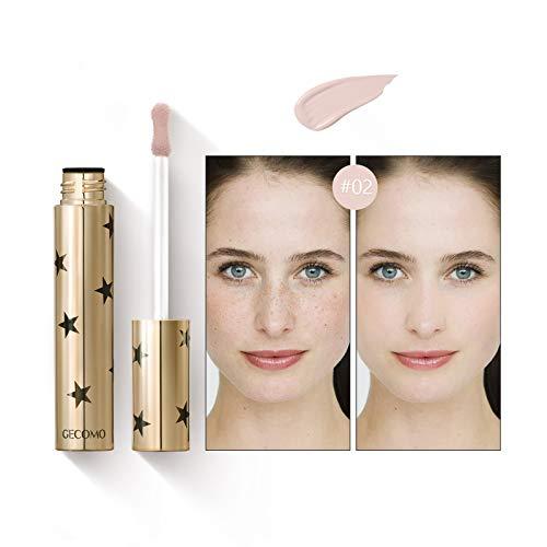 Mimore Liquid Concealer Makeup Ideale per tutti i tipi di pelle,Correttore colore brillante 24HR, Correttore di bellezza impermeabile a prova di sudore - 3 colori (02)