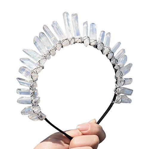 GRACEART Quarzo di Cristallo Tiara Mermaid Corona Fascia per Capelli (Full Crown-01)