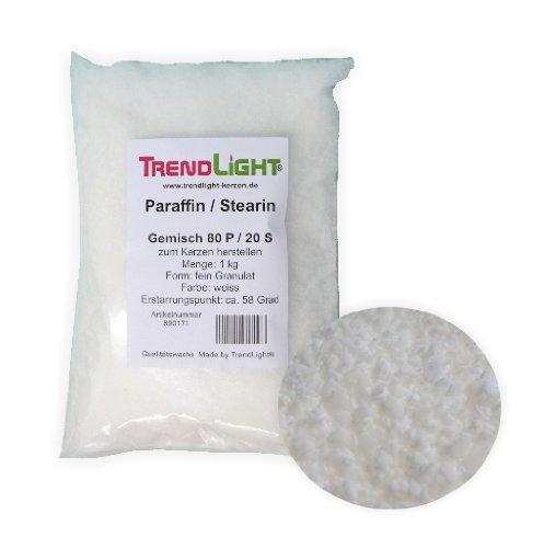 TrendLight 890171-5 - Cera per Composizione, 80% paraffina e 20% stearina, Mix di Cera da 5 kg