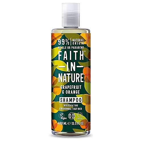 Faith In Nature Shampoo Naturale al Pompelmo e Arancia, Tonificante, Vegano, senza Parabeni e senza SLS, non Testato su Animali, per Capelli da Normali a Grassi, 400 ml