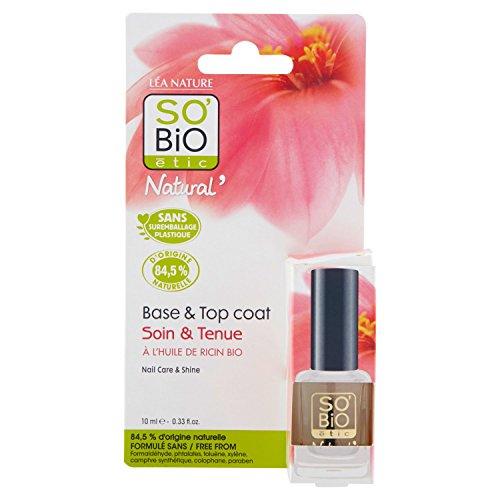 So'Bio étic Tenue & Soin smalto per unghie, base/Top Coat, 10ml