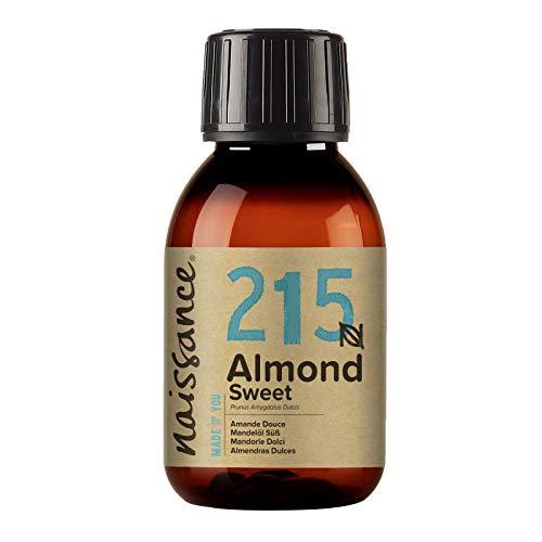 Naissance Mandorle Dolci Naturale 100ml – Vegan, senza OGM – Ideale per la cura della Pelle e dei Capelli, l'Aromaterapia e come olio da Massaggio di base