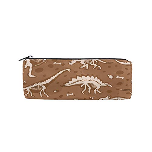 Dinosaurs Fossil Pencil Bag Pen Case Students Stationery Pouch Zipper Bag for Girls Boys Kids