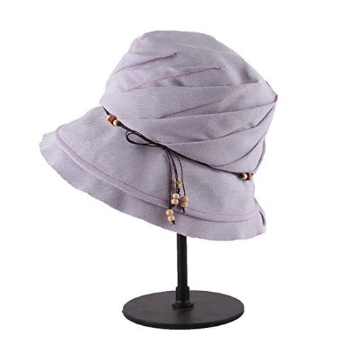 MMD-women's hat Moda Visiera Solare for Le Donne nella Protezione Solare Protezione Solare Morbido (Color : Purple)