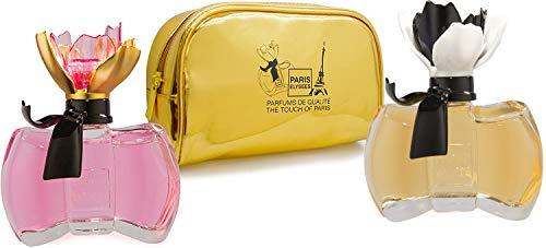 Set regalo : 2 profumi La Petite Fleur donna Paris Elysees con borsetta da toletta