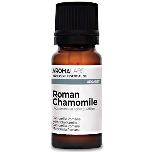 Aroma Labs Camomilla Romana Bio - 10Ml - Olio Essenziale Bio E Naturale Al 100% - Qualità Verificata Mediante Cromatografia - Aroma Labs - 10 ml