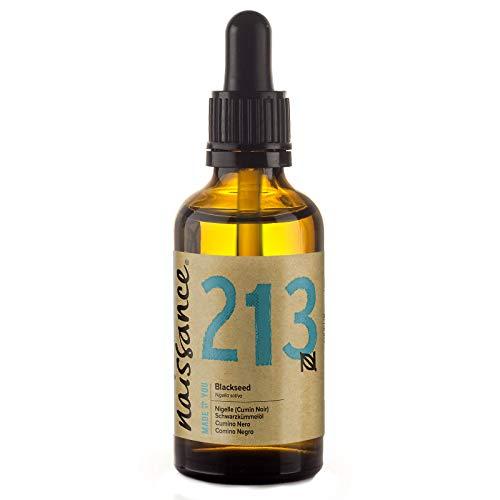 Olio di Cumino Nero (Nigella Sativa) 50ml – 100% Puro, Naturale, Non Raffinato, Vegan, Senza Esano, non OGM