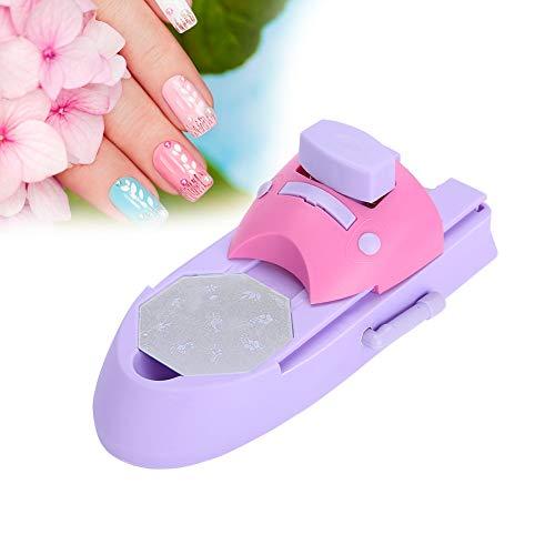 Stampante per nail art, macchina da stampa professionale per nail art fai-da-te Stamper strumenti per manicure con stampante per unghie con adesivo per ragazze con decorazione a 6 pezzi