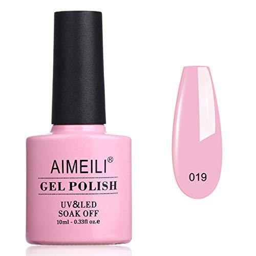 AIMEILI Smalto Semipermente per Unghie in Gel UV LED Smalti per Unghie per Manicure Colori Rosa 10ml