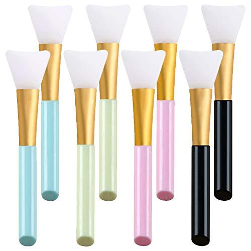 NEPAK Pennello Maschera Viso, 8Pcs Applicatori Cosmetici in Silicone senza punta, Spazzole Per Applicazione di Maschera, Siero o Fabbisogno Fai-da-te