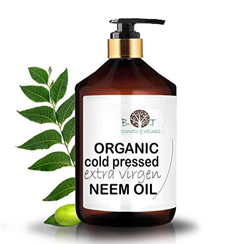 Olio Virgin di Neem puro spremitura a freddo 100% Puro BIO Non raffinato (250 ml) - Anti zanzare, repellente, giardino, problemi di pelle Azadirachtin 3123.32 ppm