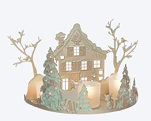 Porta candela paesaggio Hivernal