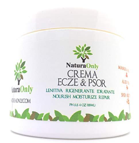 Crema Eczema & Psoriasi - crema naturale ed intensiva con Miele di Manuka, Aloe Vera, Burro di karitè, Olio di cocco. trattamento per la pelle secca, pruriginosa,arrossata e squamosa