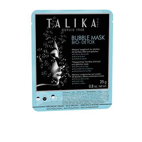 Bubble Mask Bio Detox - Talika - Maschera ossigenante effervescente anti inquinamento – Trattamento con micro bollicine per tutti i tipi di pelle - Maschera in tessuto schiumosa con carbone di bambù