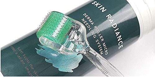 Skin Radiance Derma Roller 0.5mm, 1.0mm, 1.5mm - Dermaroller Professionale Micro-ago Roller - Dermaroller Di Alta Qualità - il Trattamento di Acne Cicatrici, Antietà e Smagliature e Corpo - Migliori Aghi di Titanio!
