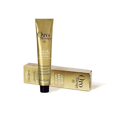 FANOLA Oro Puro Therapy Color Keratin - Tinta per capelli, 100 ml, 9.00 biondo chiaro intenso