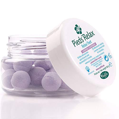 PIEDS'RELAX (LAVANDA) - Trattamento Pediluvio - 20 Palline Effervescenti con Oli Essenziali Rinfrescanti e Deodoranti - Origine: Francia