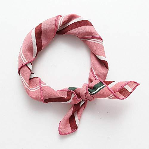 Kllomm Sciarpa Quadrata Piccola Sciarpa Sciarpa Sciarpa Selvaggia Fascia per Capelli Fascia Copricapo per Donna e Ragazza Accessori per Capelli-Rosa
