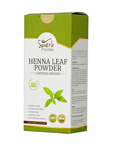Spierb Henné polvere - Polvere di foglie Henné a base di erbe per la tintura dei capelli Colore di capelli senza sostanze chimiche rosso marrone 100% puro Henna Powder Lawsonia Inermis facile da usare