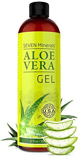 Gel organico di aloe vera con aloe pura al 100% di aloe appena tagliata - SENZA ACRILATI E POLIMERI RETICOLATI, per cui si assorbe rapidamente senza lasciare residui appiccicosi - Grande 355 ml