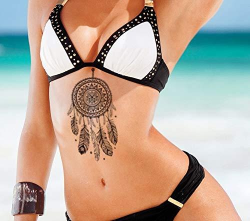 Tatuaggio con acchiappasogni in pizzo, per feste, tatuaggi con piume, SY116
