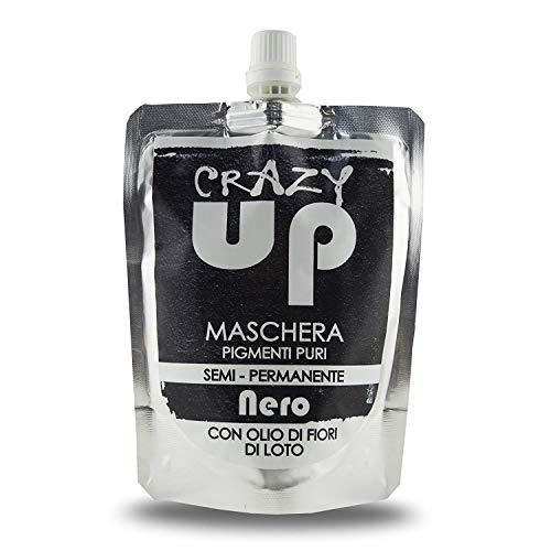 Crazy Up Maschera Colorante Senza Ammoniaca Semipermanente per Capelli - Nero - 200 ml