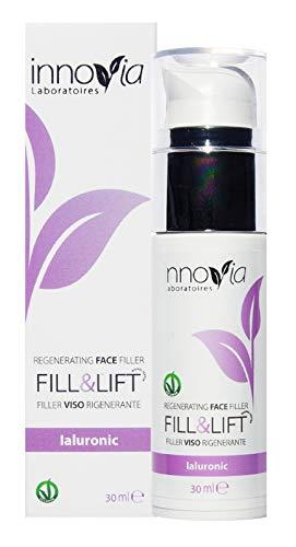 Filler Viso all'Acido Ialuronico Puro - Siero Gel Effetto Lifting Rimpolpante e Tonificante - L'Antirughe Anti-Age perfetto per il viso - Ottimo insieme alla Crema Viso Idratante o Nutriente