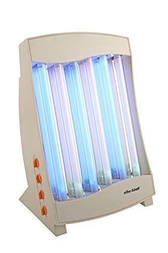 Efbe-Schott Wellness- Lampada abbronzante facciale con 6 tubi, 105 W, 2 occhiali protettivi inclusi, Bianco, SC GB 836 C N