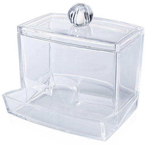 Acrilico Cotton fioc porta bastone piccolo visualizzazione Storage box trasparente per cosmetici e custodia per casa ufficio utilizzando organizzatori contenitori scatole