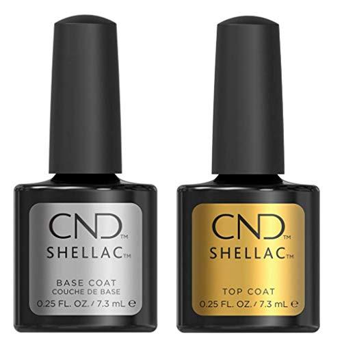 CND Shellac SET Base & Top Coat, 7.3 ml, Confezione da 2 pezzi