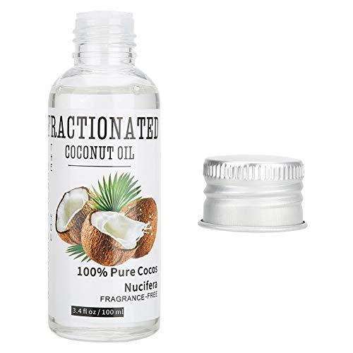 Olio da massaggio al cocco 100ml, olio essenziale per massaggi, pelle e capelli idratanti, cura della pelle e dei capelli, olio per il trasporto di oli essenziali diluenti, olio per massaggi