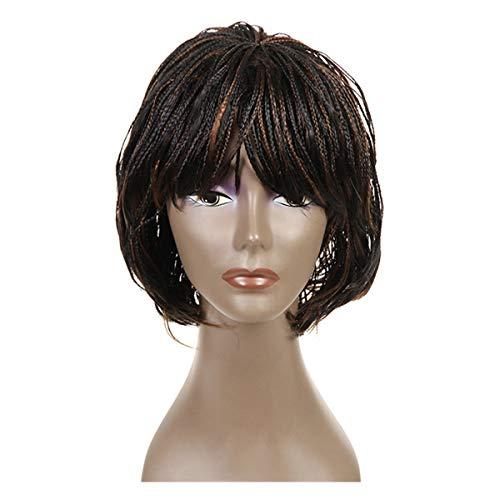 Senegal - Parrucca con trecce intrecciate, con pizzo sul davanti e sulla parte anteriore, in confezione piccola, per parrucche nere da 30,5 cm (#1b/30)
