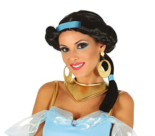 Fiestas Guirca Parrucca Nera Principessa del Deserto araba