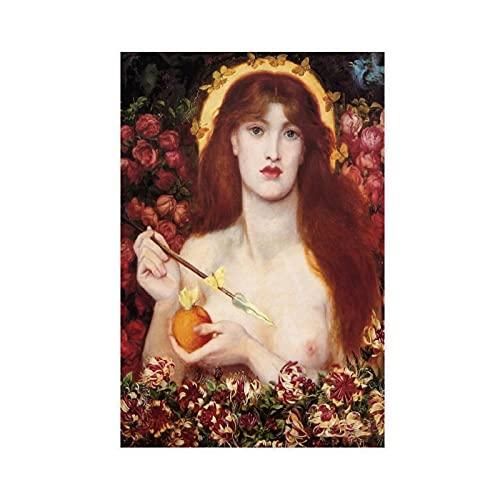 Poster su tela Venus Verticordia by Rossetti, decorazione da parete per soggiorno, camera da letto, 40 x 60 cm