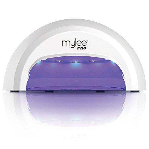 Mylee Lampada Unghie LED Professionale PRO Salon Series, Fornetto per Smalto Gel, Manicure e pedicure, Vassoio rimovibile, Polimerizza in soli 15 secondi (Lampada bianca)