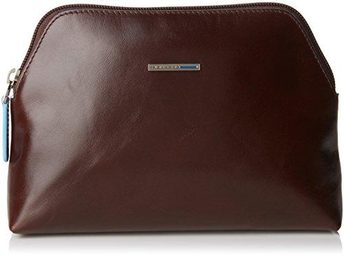 Piquadro Nécessaire Collezione Blue Square Beauty Case, Pelle, Mogano, 22 cm