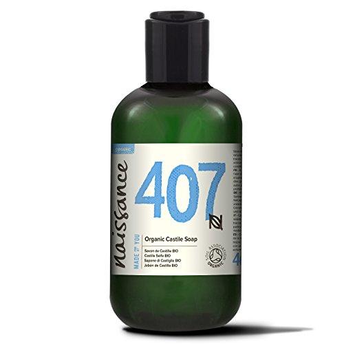 Naissance Sapone di Castiglia liquido certificato biologico senza profumo 250ml - Privo di SLS e SLES e Vegano