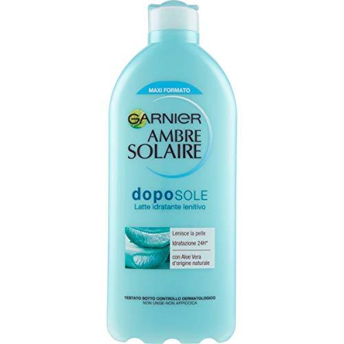 Garnier Ambre Solaire Crema Doposole Aloe Vera, Latte Idratante Lenitivo, Formula Arricchita con Aloe Vera, Maxi Formato 400 ml, Confezione da 1