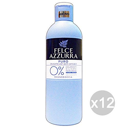 Set 12 FELCE AZZURRA Bagno Puro Pelli Sensibili 650 Ml Prodotto Bagno E Doccia