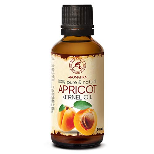 Olio di Nocciolo di Albicocca - 50ml - Prunus Armeniaca - Olio Vettore - Puro Spremuto a Freddo - Olio Idratante Corpo - Cura del Viso - Olio per Capelli, Pelle, Massaggi