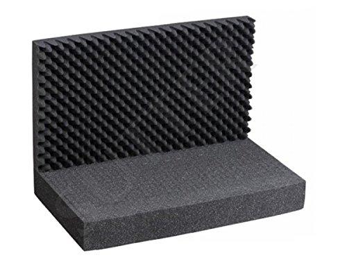 Inserto in schiuma con griglia a cubo, superiore e inferiore (3 parti), dimensioni: 43 cm x 33 cm, per custodia in alluminio, custodia per pistola, custodia per fucile e custodia per fucile