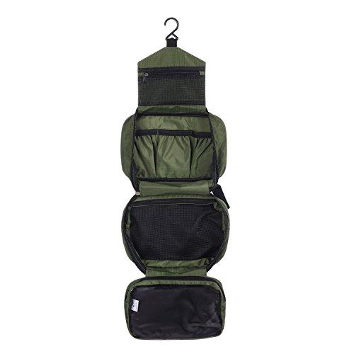 CYBERNOVA Borsa da Viaggio Cosmetica,Beauty Case da Viaggio/Borsetta da Viaggio wash bag Cosmetic bag Multi-compartimenti per Organizzare Oggetti Personali (verde)
