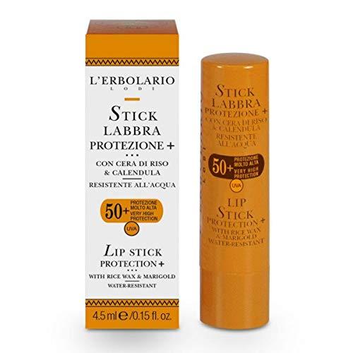 L'Erbolario, Stick Solare Labbra ad Alta Protezione da Raggi UVA e UVB, SPF 50, 4.5 ml
