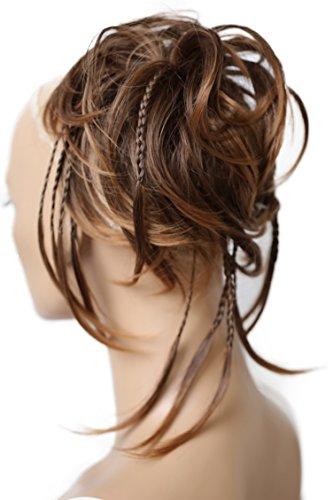 Prettyshop Hairpiece, accessorio per acconciature sposa, toupet per acconciature raccolte, voluminoso, chignon riccio e scomposto