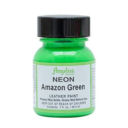 Angelus, Colore acrilico per pelle, 29,5 ml/ Tinta acrilica Angelus, per pelle, Verde (Amazon verde / Amazon Green), 118ml
